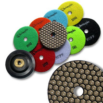 "KENT 10 DRY 4"" Premium Quality, 2mm Thick, Diamond Polishing Pads,5/8-11 Holder - $77.42"