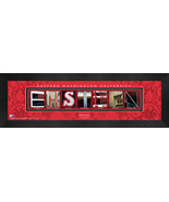 Personalized Eastern Washington University Campus Letter Art Framed Print - $39.95