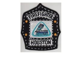 Firefighter Houston  WHA Houston Aeros Hockey Helmet Shield Patch 4.75in - $9.99