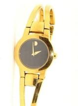 Ladies Moved Amoroso Classic Gold Tone Bangle Watch 88 E4 1842 #32508B - $147.51