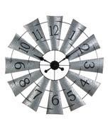 Galvanized Windmill Wall Clock - $96.88