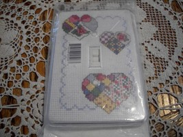 Decorator Hearts Single Switchplate to Cross Stitch - $7.00