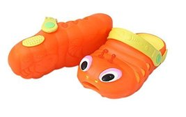 Kids Sandals In/Outdoor Toddler Clogs Shoes/Orange Caterpillar 15.7CM Length