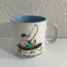 Jim Benton Mr Fisherman Papel Coffee Tea Mug Humorous Fishing Cartoon - $14.85
