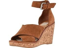 Dolce Vita Women's Urbane Wedge Sandal, Brown Suede, 8.5 M US - $46.94