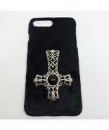 Iphone 7P Soft Plush Inverted Cross Phone Case - $20.00