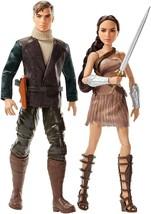 DC Comics Wonder Woman Steve Trevor Doll Barbie Action Figure 2 Pack - $35.52