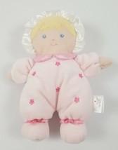 Prestige Baby Doll Plush Girl Stuffed Toy Pink Flowers Blonde Blue Eyes ... - $19.79