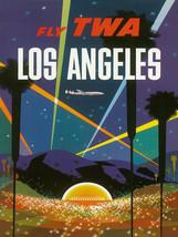 Vintage David Klein TWA Poster Los Angeles Hollywood Bowl Mid Century Mo... - $64.33