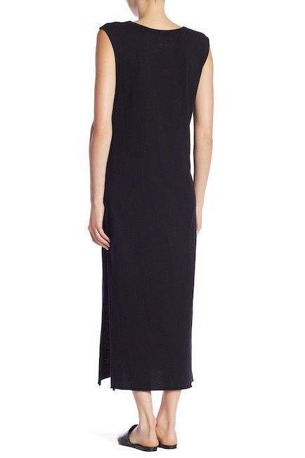 NEW 148$ Current Elliott T Shirt Dress The Delphi Maxi Tee BLACK  *0-3 image 2