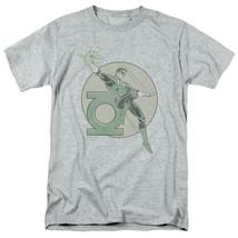 Green Lantern T-shirt retro 80s DC comic book cartoon superhero grey tee DCO603 image 2