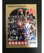 David Robinson Signed Autographed 1990 Hoops Basketball Card - San Anton... - $29.99