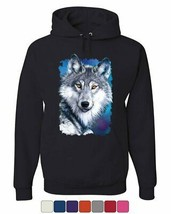 White Wolf Head Hoodie Into the Wild Wildlife Howl Wolf Pack Sweatshirt - $23.20+