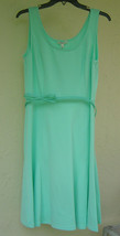 NWT SPENSE GREEN BELTED A LINE DRESS SIZE 10 $88 - $18.49