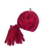 Bobbie Brooks Womens Red Knit Hat with Matching... - $7.69