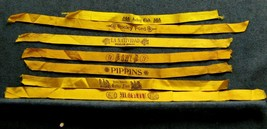 7 Cigar Box Cloth Ribbons - All Diff. Brands - OWL ROCKY FORD PIPPINS MO... - $31.68