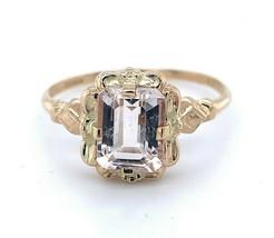 10k Yellow Gold Vintage 1.70ct Genuine Natural Morganite Ring (#J4981) - $445.50