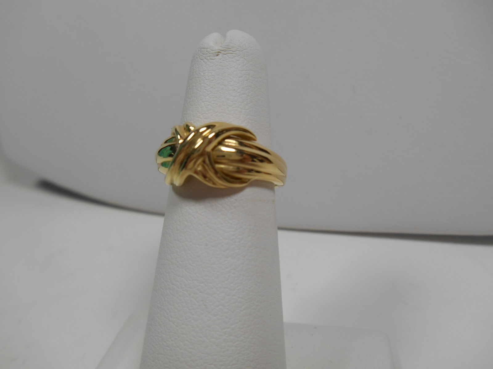Tiffany & Co.18K Gold Signature X Kiss Cross Rare Wide Band Ring Sz 5 EUC
