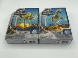 Jurrasic World STEM Lot Triceratops Velociraptor Dinosaurs - $11.88