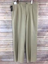Liz Claiborne Dress Pants 32x30 Brown Stripe Flat Front Career NWT - $31.56