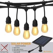Foxlux Solar String Lights,48FT LED Outdoor String Light,Shatterproof&Wa... - $69.98