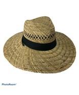Straw Hat Black Sash Loop Women - $28.71