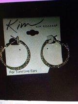 """Kim Rogers 1.25"""" hoop earrings gold tone women jewelry - $15.00"""