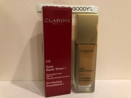 Clarins Everlasting Foundation + #115 Cognac SPF 15 NIB 1.1 oz - $10.88
