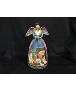 """Jim Shore """"A Star Shall Guide Us"""" 11"""" Angel with Nativity Scene 2005 Fig... - $35.00"""