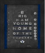 """BYU Cougars 13x16 College """"Chalkboard Look Eye Chart"""" Framed Print - $39.95"""