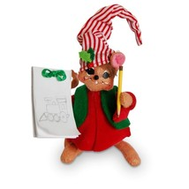 """Annalee 2016 Christmas 5"""" WORKSHOP SKETCHING MOUSE Collectible Doll 600116 - $21.78"""