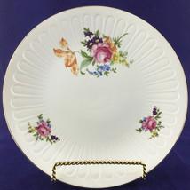 Vintage Large Porcelain Plate Floral Gold Rim Platter German Democratic ... - $39.48