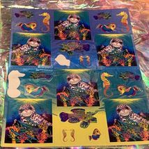 Incredible Incomplete Lisa Frank Sticker Sheets LOT OF 5 Rainbow Tiger Kittens + image 3
