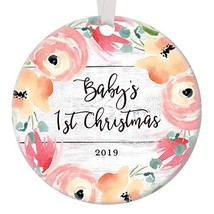 Baby's First Christmas Ornament 2019 Baby Shower Present New Parents Infant - $28.67