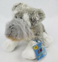 """Ganz Webkinz Schnauzer 8"""" Plush Dog Gray Fuzzy Stuffed Animal SEALED CODE - $13.31"""