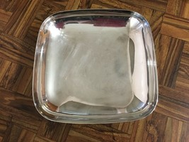 "Mid Century Reed & Barton Silverplated Square Bowl ~ Embassy ~ #1141 8"" X 8"" - $19.31"