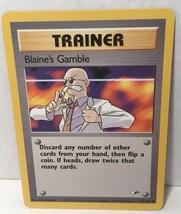 Blaine's Gamble 121/132 Trainer Pokemon Card TCG Gym Heroes Set NM Great... - $2.54