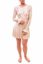 For Love & Lemons Women's Emanuelle Sleep Ruffle Nightie Cream RRP $131 ... - $84.69