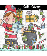Gift Giver Clip Art - $1.35