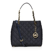 NWT MICHAEL MICHAEL KORS SUSANNAH SMALL NORTH SOUTH DENIM TOTE  - $154.79