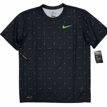 Nike Men's Legend Printed DRI-FIT Training Gym T-Shirt Black Green CZ974... - $24.99