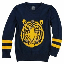 No Retreat Boys Tiger Icon Pullover Sweater  Navy Orange Sz XL - $12.41