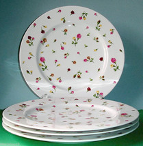 Royal Albert COUNTRY ROSE BUDS Dinner Plate Set of 4 New In Box - $114.90
