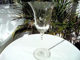 "Mikasa Flair Pattern Clear Crystal Wine Glass 8 1/4"" Tall - $18.80"