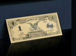 "2X GEM>1899 ""GOLD""$1 SILVER CERTIFICATE BLACK EAGLE Rep.*Banknote ~STUNNING - $21.27"