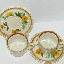 MIKASA BASKET OF SUNSHINE CUP & SAUCER 2 SETS FLOWERS THAT BLOOM IN SPRI... - $22.99