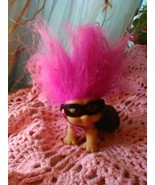 "1 1/2"" x 2"" Baby Troll Doll- Mask & Cape WPurpleish/Pink Hair - $4.95"