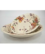 "Vintage Royal Doulton Sherborne  8"" & 9"" Oval Vegetable Serving Bowls Sc... - $29.69"