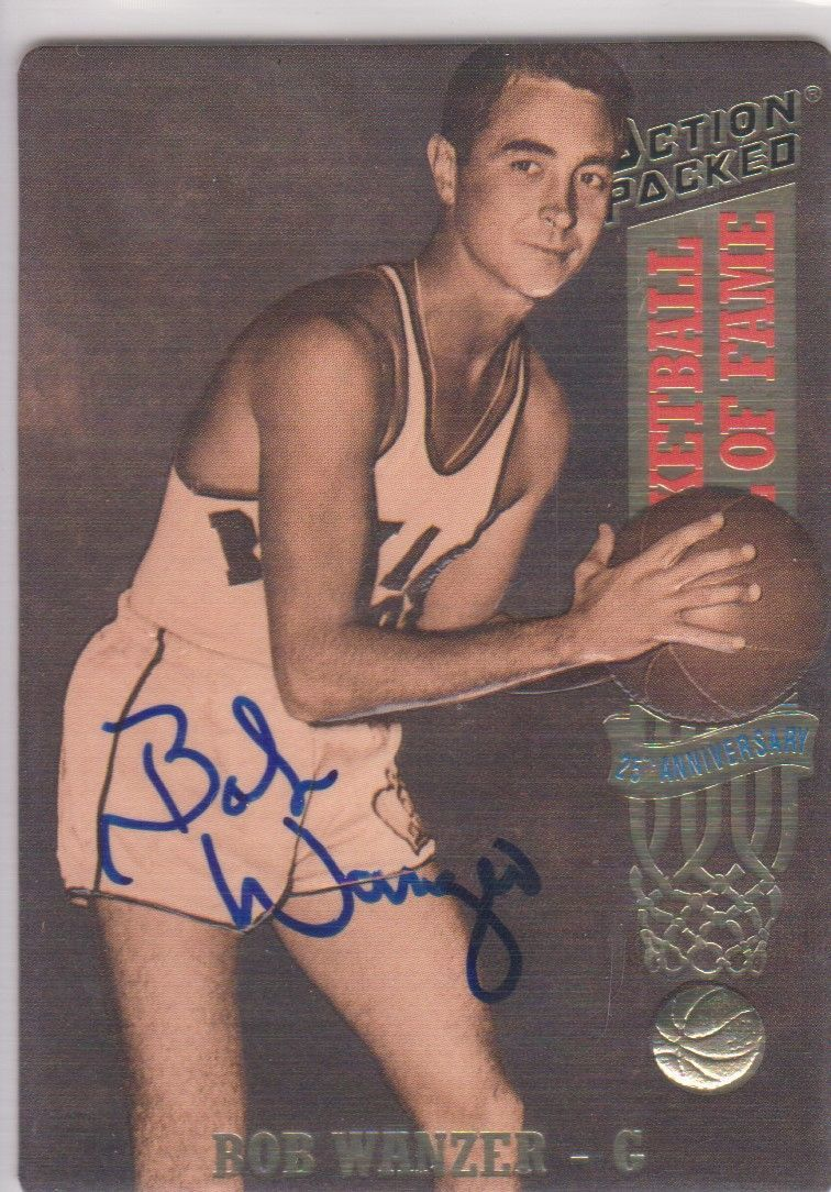 Bob Wanzer Signed Autographed 1993 Action Packed Basketball Card - Rochester Roy