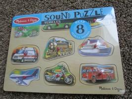 Melissa & Doug Transport Car, Truck Ambulance, Plane, Motorcycle Sound Puzzle - $19.30